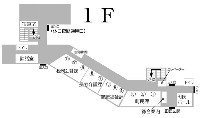 岩手町役場 庁舎案内 1F