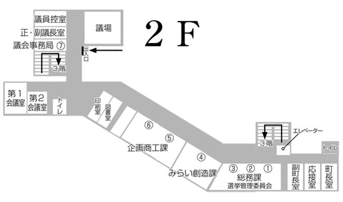 岩手町役場 庁舎案内 2F
