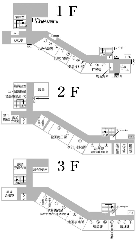 岩手町役場庁舎マップ