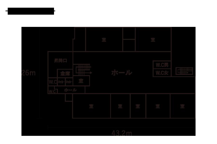北山形小学校-1F平面図