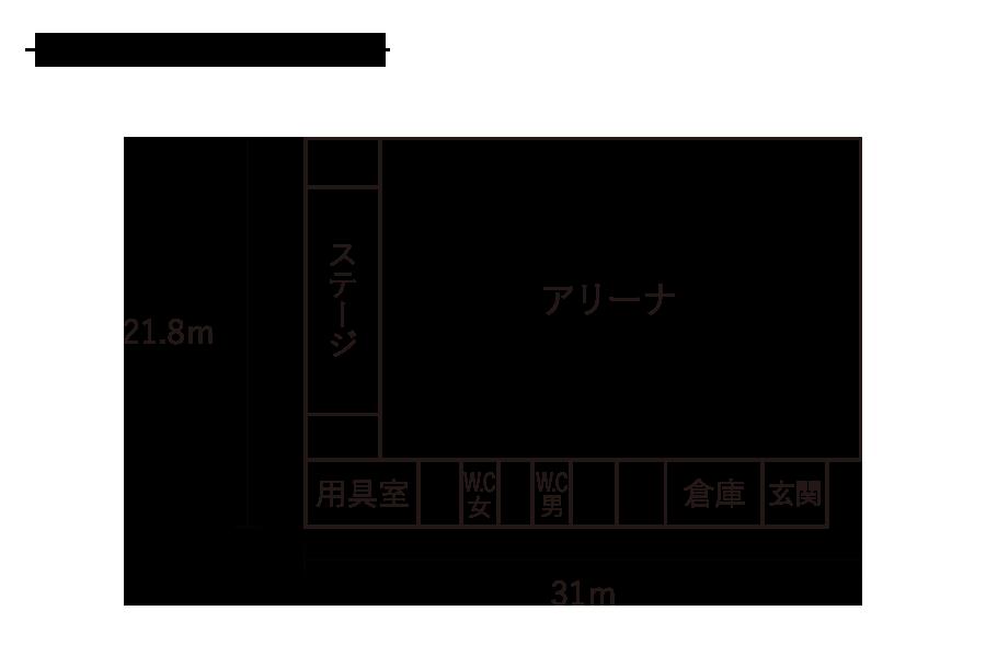 北山形小学校-屋内運動場平面図