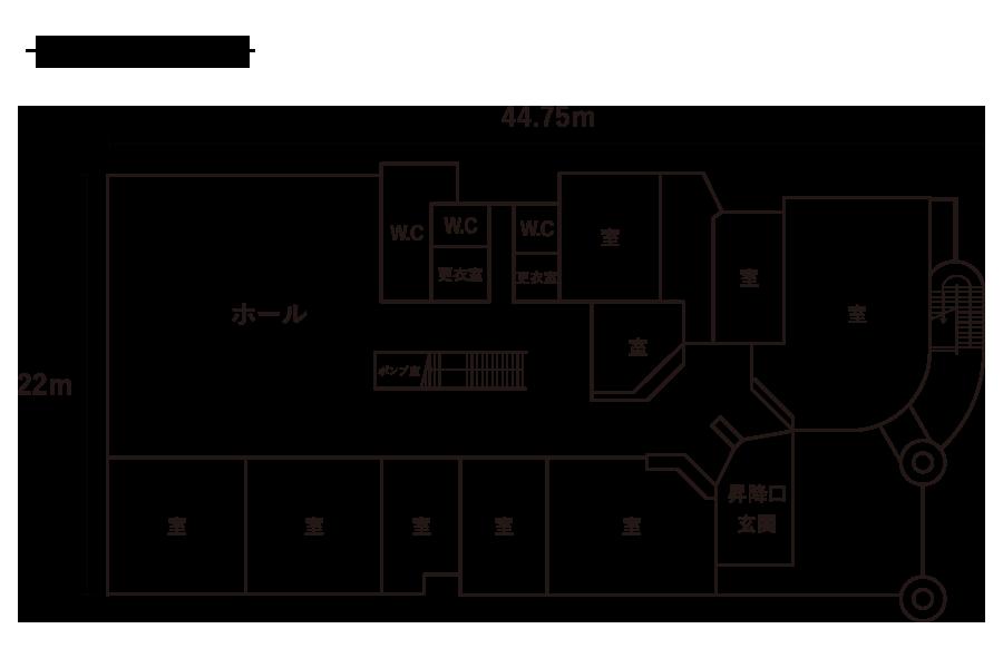 久保小学校-1F平面図