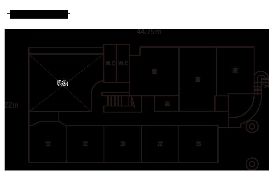 久保小学校-2F平面図