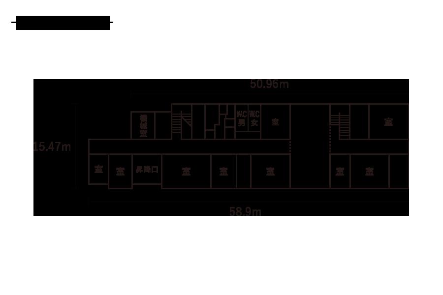 浮島小学校-1F平面図