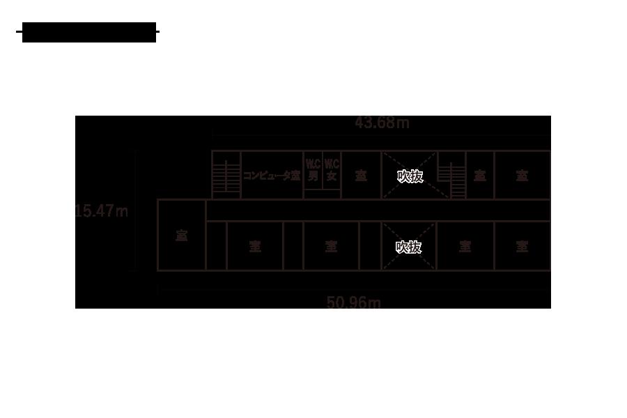 浮島小学校-2F平面図